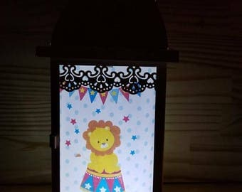 nursery night light circus baby nursery decor dream night light Lantern night light baby gift baby decor nursery ligth unique lamps