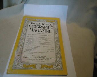Vintage The National Geographic Magazine April 1937 Vol LXXI Number Four, Coca Cola Ad On Back,  collectable