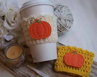 Crochet Coffee Cozy - Pumpkin Classic