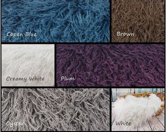 Curly Alpaca Faux Fur, Newborn Photography Prop, Faux Fur Fabric, Newborn Faux Fur, Newborn Photo Props, Newborn Backdrops, Posing Fur, RTS