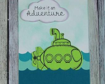 Submarine Adventure handmade card--CB81217-41