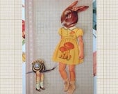 DIGITAL DOWNLOAD Paper Doll Anthropomorphic Matte  Rabbit Girl