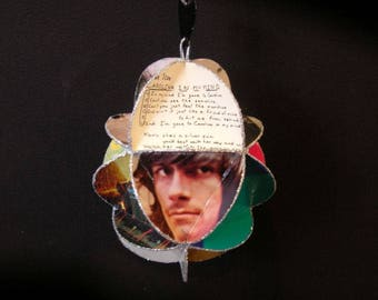 James Taylor Egg Shaped Album Cover Ornament Made Of Record Jackets