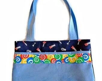 Toddler and Preschool Tote Bag, Boy, Diaper Bag, Toy Bag, Daycare Bag, Book Bag