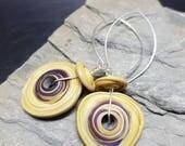 Sterling Silver, Lampwork Glass Earrings - Quirky, Boho, Funky