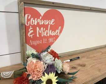 Rustic GuestBook - Alternative Wedding Guest Book - Rustic Wood Wedding Sign - Custom Wood Guestbook - Personalized Wedding - Sign In