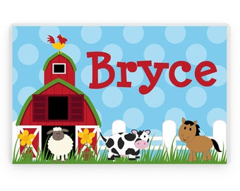 Personalized Farm Animals Placemat, Kids Personalized Place Mat, Farm Animals Personalized Gift, Farm Placemats, Kids Personalized Gifts