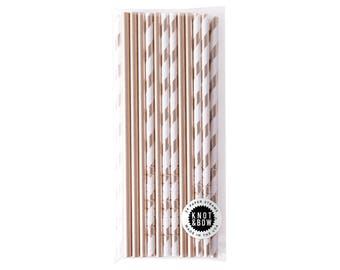 Premium Party Straws | Gold Mix | 24 pack