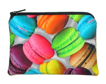 French Macarons Zipper Pouch Coin Change Purse - Ready to Ship