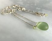 Sea glass necklace, perid...