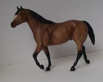 1970's Breyer Molding Co. Gelding Dabble Bay Socked Horse Equestrian Figurine Horse Lover Rodeo Country Western Toy
