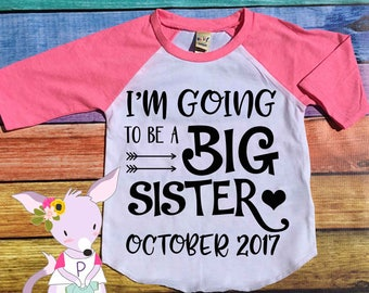 I'm going to be a big sister raglan top girls big sister shirt pregnancy announcement shirt big sister announcement shirt raglan