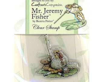 Beatrix Potter Acrylic Stamp - Jeremy Fisher   - Crafter's Companion