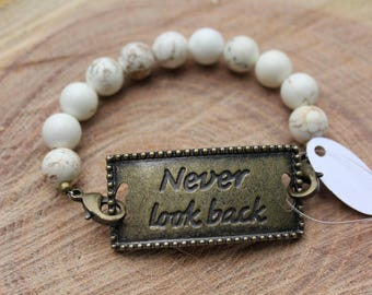 Never Look Back Mantra Bracelet