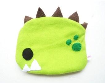 ON SALE - Green Dinosaur Zipper Pouch - Pencil Pouch, Pencil Case, School Supplies, Make Up Bag, 3DS Case, Phone Case, Coin Purse