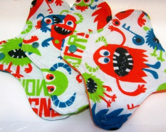 3 Cloth Panty Liners-Monsters