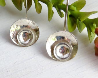Bride Gift - Mother's Day Gift - Sterling Silver Drop Earrings - Dangle Earrings - Silver Dangle Earrings -  Long Silver Dangles