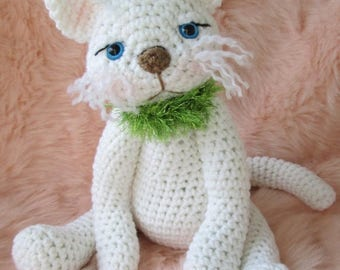 Summer Sale Crochet Pattern Cute Kitty Cat by Teri Crews instant download PDF format