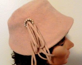 Ladies Vintage Hat, Cute Brown Style