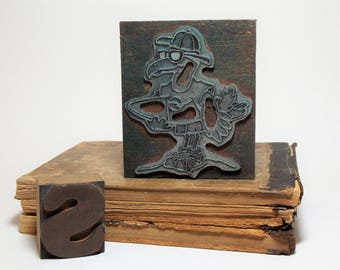Surfing Seagull Wood Block Stamp