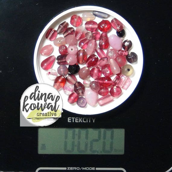 Destash - 2 oz. quality glass bead mix - pinks