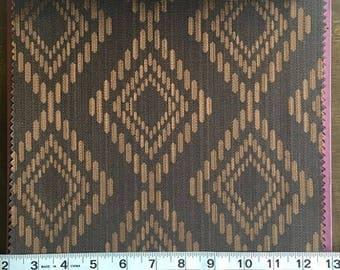 Custom Curtains Valance Roman Shade Shower Curtains in Dark Brown Diamond Pattern Fabric