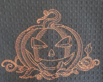 Halloween Towel - Jack O'Lantern - Reduced