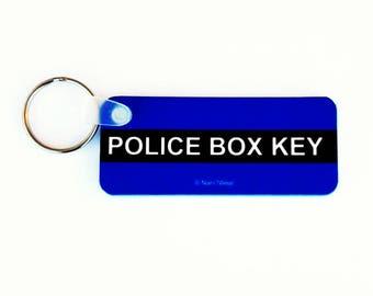 Who Police Box Doctor Keychain: Police Box Key