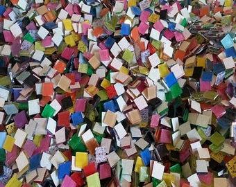 Mega Mix 1000 Blueriverglass Mosaic Tiles  Mix Handcut Glass Tile