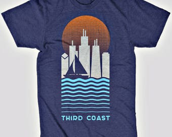 Third Coast Chicago Vintage Travel T-Shirt