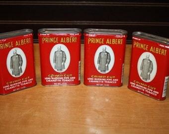Prince Albert Tobacco Tins - set of 4 - item# 2848-4