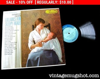 August Vinyl Blow Out 10% OFF Already Low Prices 1960 LullabiesFor Sleepyheads Vintage Vinyl lp  Record Mother and Sleepy Baby Cover
