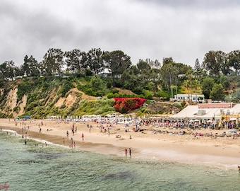 Malibu,Skyline,Beach,Malibu Beach,Ocean,Turquoise,Paradise Cove,California,Travel,Home Decor,Office Decor,Oversize,Wall Art,Beach Decor