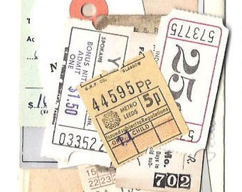 18 NEUTRAL Antique TICKETS - VINTAGE Old Ticket selection from all over the world
