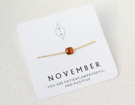 Gold Personalized Birthstone Bracelet