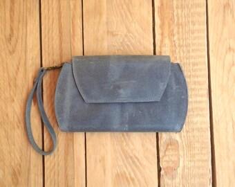 Wallet Crossbody Bag, small crossbody bag womens wallet, Gray wallet passport holder, iPhone 6 Plus Case, slim wallet women, Removable Strap