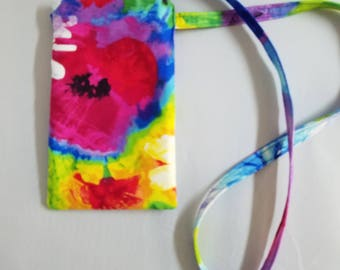 Smart Phone Pouch Mobile Phone Pouch with Lanyard Fabric Case with Neck Strap Mobile Phone Case Gift for Her