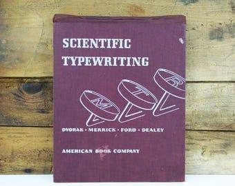 Scientific Typewriting vintage instructional book