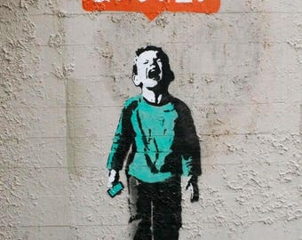 Banksy Canvas (READY TO HANG) - Nobody Likes Me - Multiple Canvas Sizes