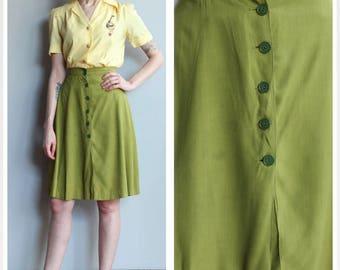1940s Culottes // Co-Ed College Culottes // vintage 40s gabardine culottes