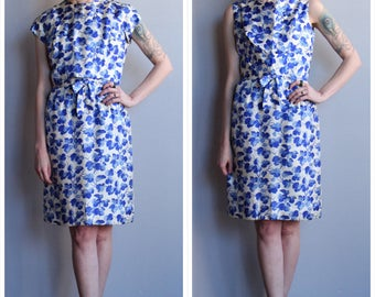 1950s Dress // Suzy Perette Blossoming Floral Silk Dress & Blouse // vintage 50s 2pc dress