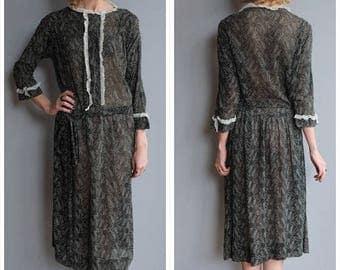 20% Off Sale // 1920s Dress // Daisy Voile Dress // vintage 20s dress