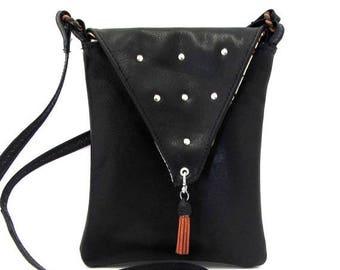 ON SALE Black Leather Purse / Leather Crossbody / Crossbody Bag / Small Black Purse / Cross Body Bag / Cross Body Purse / Crossbody / Leathe