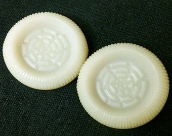 Pair of 37mm Vintage Spiderweb Buttons Large