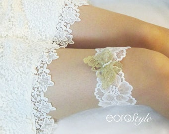 Garter, Butterfly Garter, Bridal Garter, White Lace Garter, Lace Garter, Wedding Garter, Lace Wedding Garter, Camo Garter, Prom Garter
