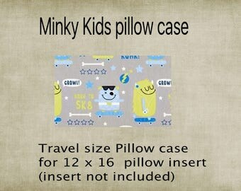 Pillowcase, Travel size pillowcase, Kids pillowcase monsterMinky, minky pillowcase