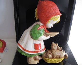 vintage Children with their Pets by Homco - set of 2