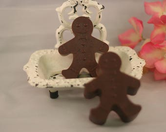 gingerbread man soap set of 2 glycerin cinnamon soap you choose scent