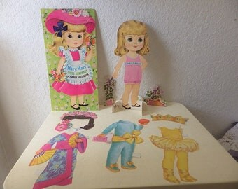 Two Large Paper Dolls, Amy Jo and Mary, Cut, Incomplete, 1972