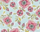 Hello World Good Day - Happy Blossoms in Blue by Cori Dantini for Blend Fabrics